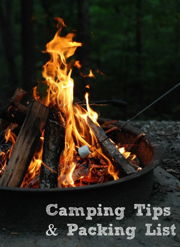Family Camping Checklist on ASpicyPerspective.com #camping #fall