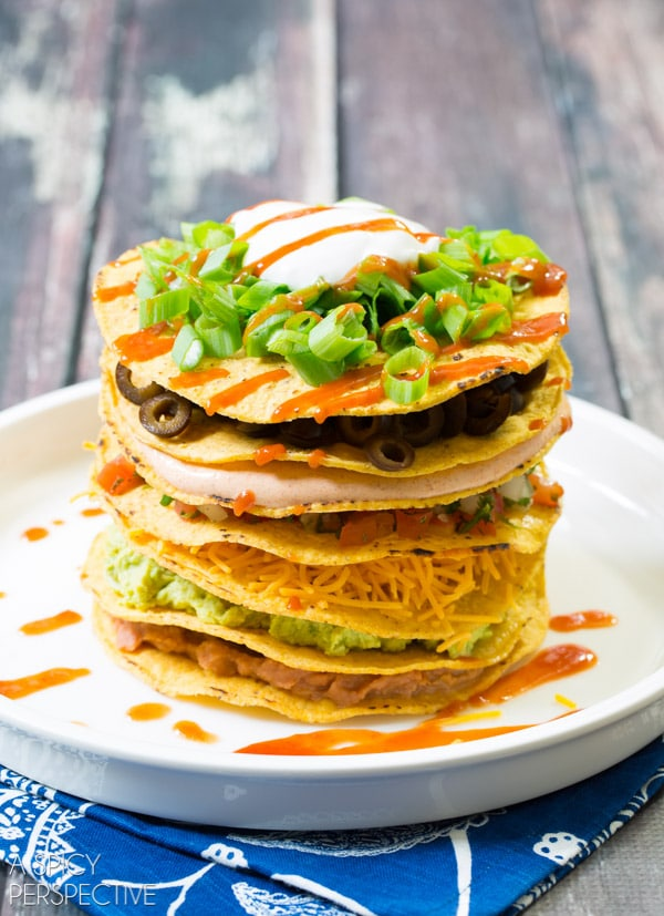... tostadas chicken tinga tostadas seven layer tostadas recipes dishmaps