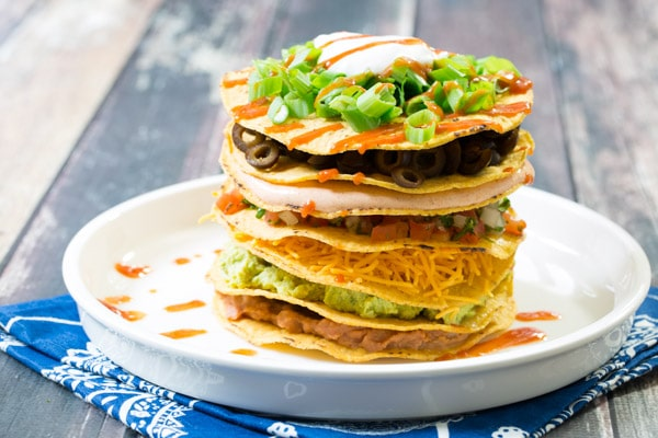 seven layer dip a twist on the classic seven layer dip with towering ...