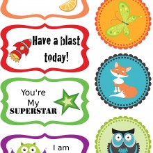 Free Printable Lunch Box Notes #BackToSchool #LunchBox #Free