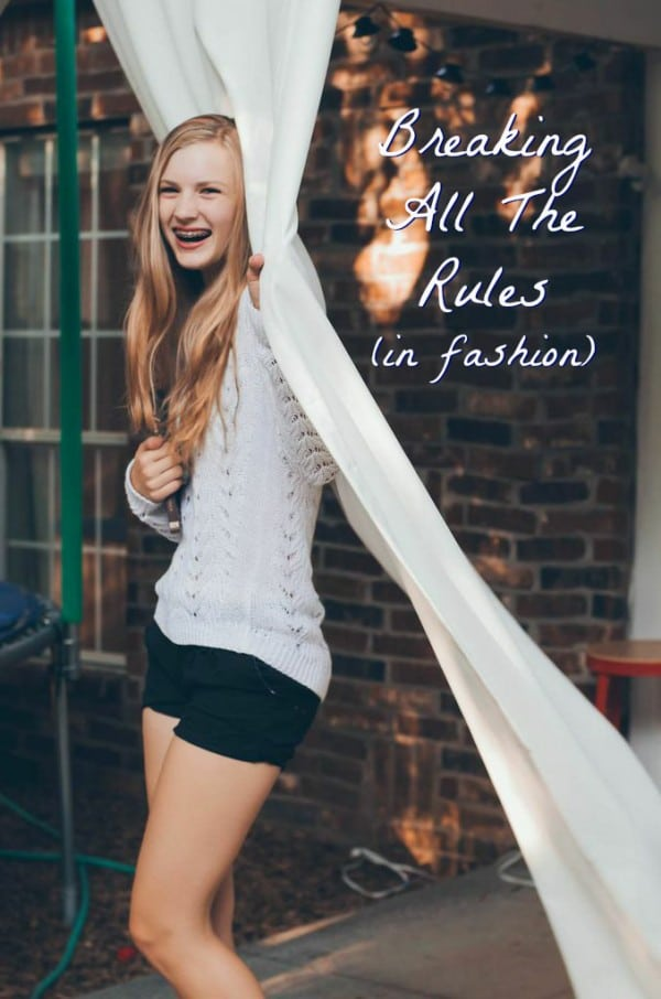 Breaking All The Rules (in Fashion!) Tips on what old-school fashion rules to follow and what to shake off! #fashion #fall