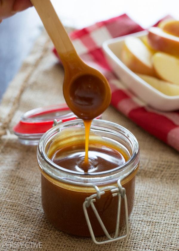 Salted Caramel Sauce #caramel #ediblegifts #fall