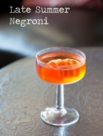 Late Summer Negroni Recipe #cocktails #tgif