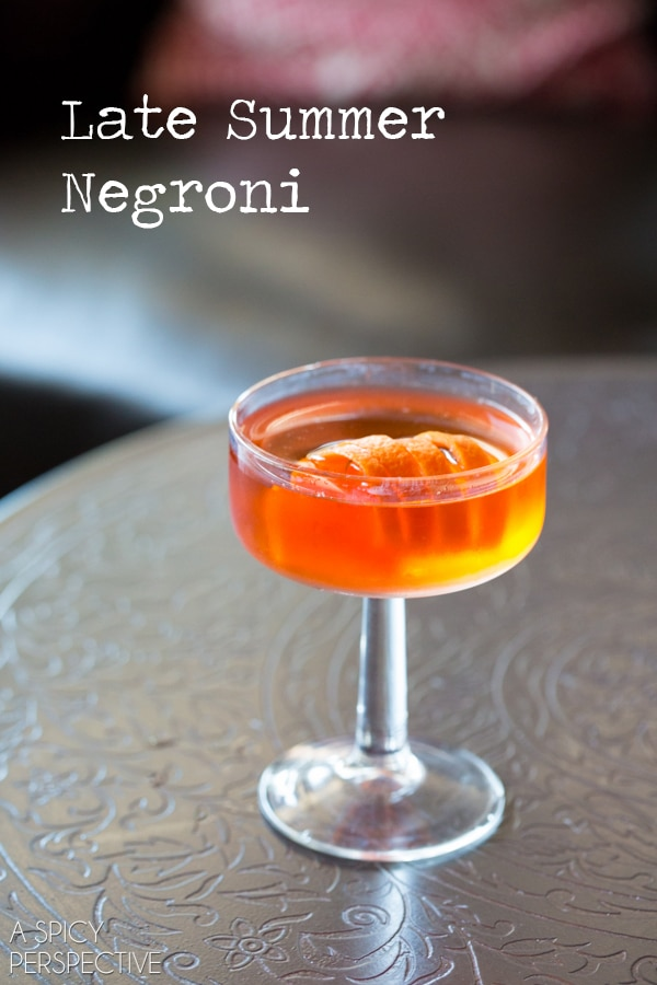 fun twist on a classic negroni recipe. The Late Summer Negroni ...