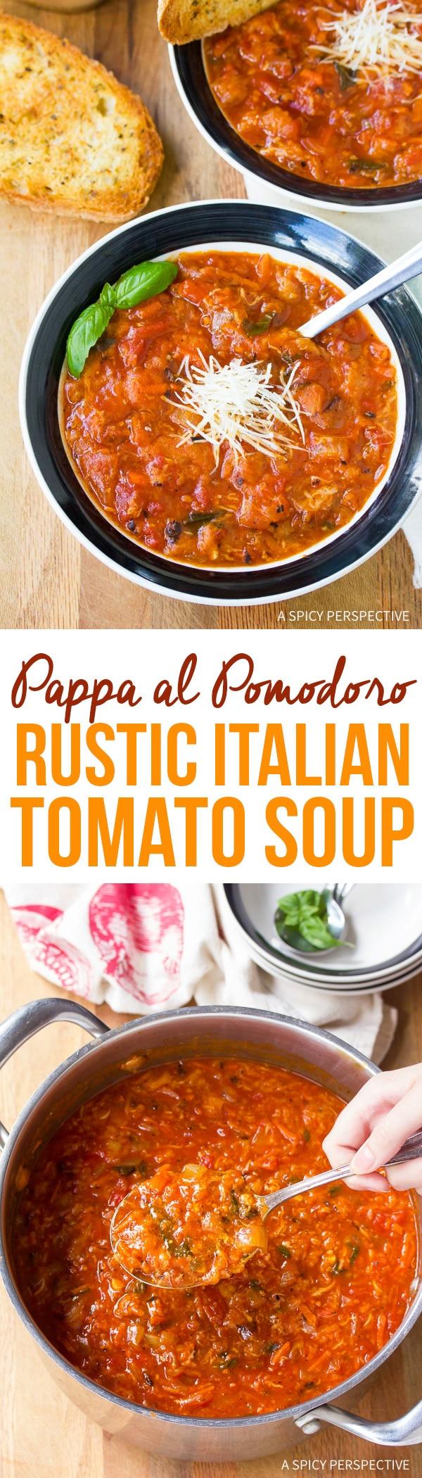 Rustic Pappa al Pomodoro - Italian Homemade Tomato Soup Recipe