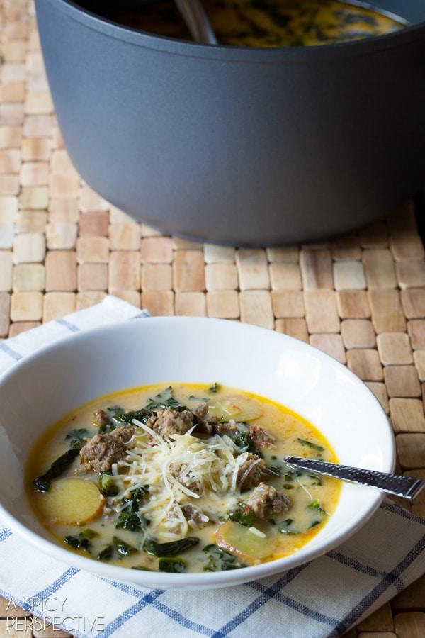 I *heart* Sausage and Kale Soup #soup #fall #kale