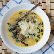 Sausage and Kale Soup #soup #fall #kale
