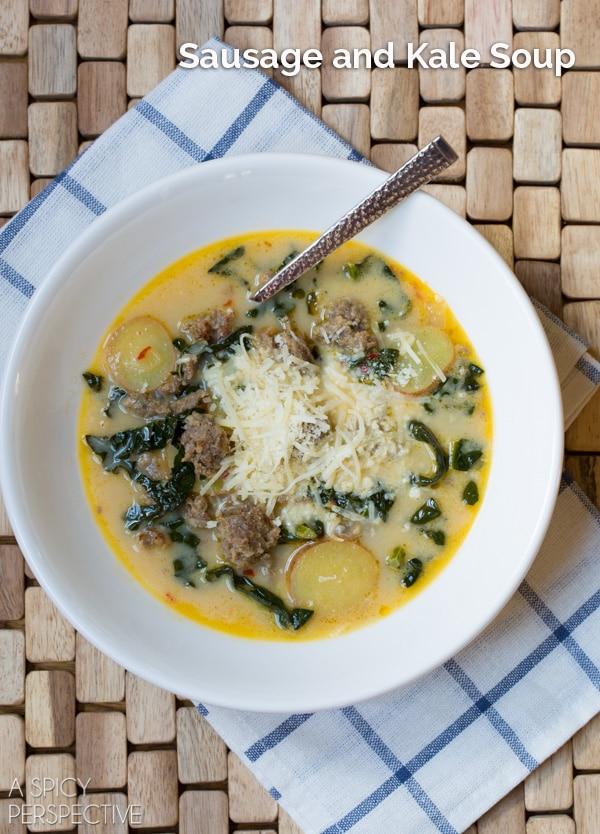 Sausage and Kale Soup #soup #fall #kale