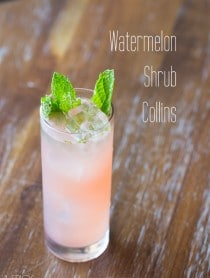 Watermelon Cocktail - the Watermelon Shrub Collins!