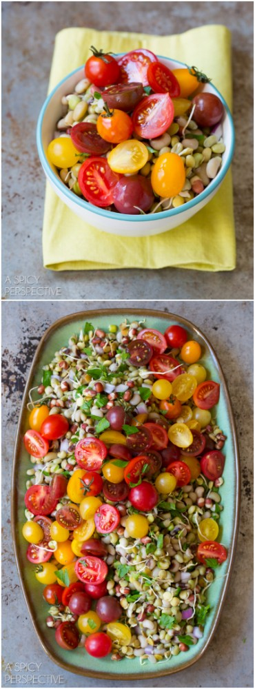 Bold & Gorgeous Market Bean Salad #healthy #salad #vegan #glutenfree