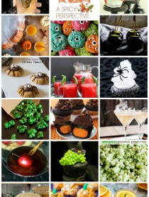 Halloween Treat and Cocktail Round Up! The best on the web. #halloween