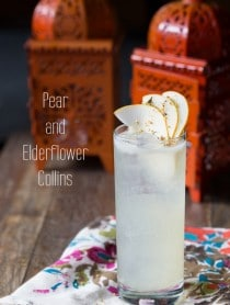 Pear and Elderflower Collins #cocktails