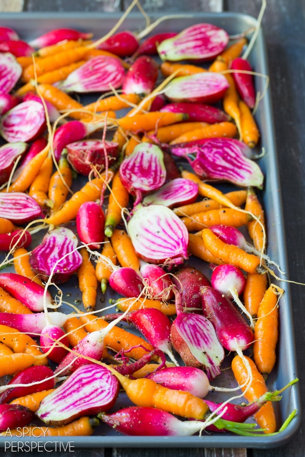 Easy Fall Roasted Root Vegetables with Miso Glaze