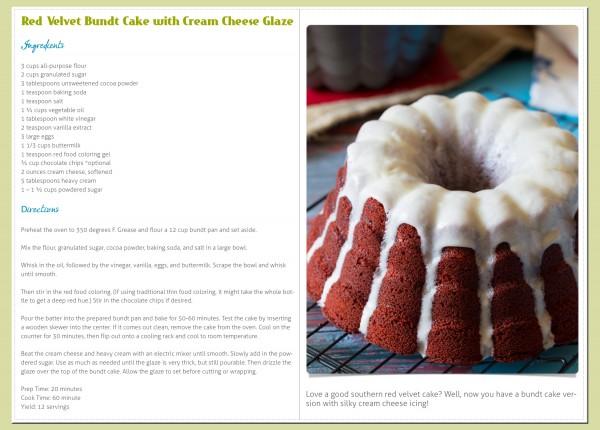 Sample Page - Brilliant Bundt Cake eCookbook !