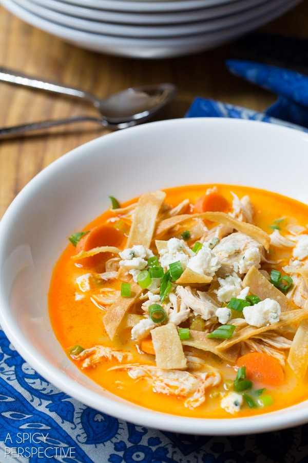Slow Cooker Buffalo Chicken Soup A Spicy Perspective