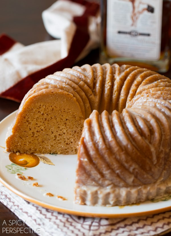 Salted Caramel Bundt Cake with Bourbon Glaze
