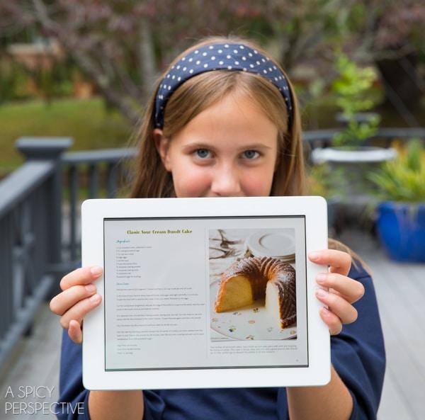 Brilliant Bundt Cake eCookbook on your Tablet!