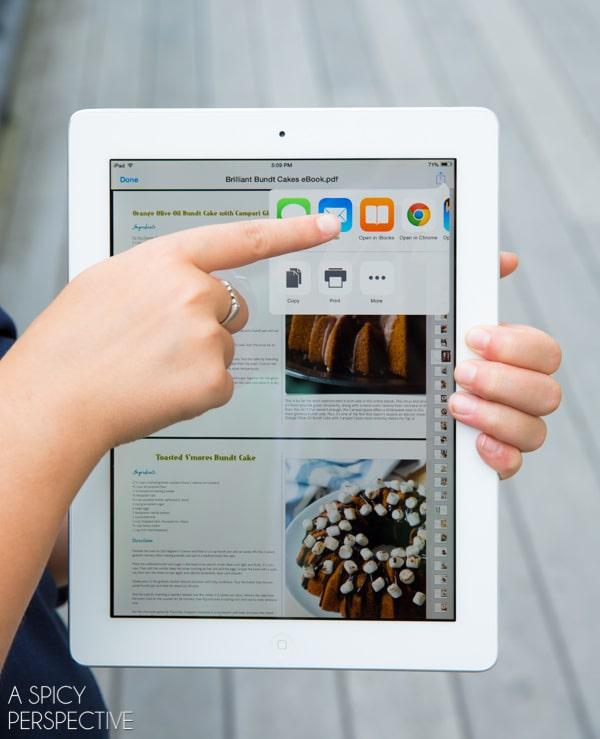 Brilliant Bundt Cake eCookbook on your iPad!