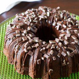 Chocolate Mint Bundt Cake Recipe + Brilliant Bundt Cakes Ebook Release Party!