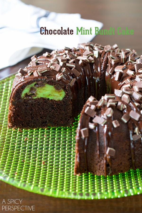 Decadent Chocolate Mint Bundt Cake Recipe + Brilliant Bundt Cakes Ebook Release Party!