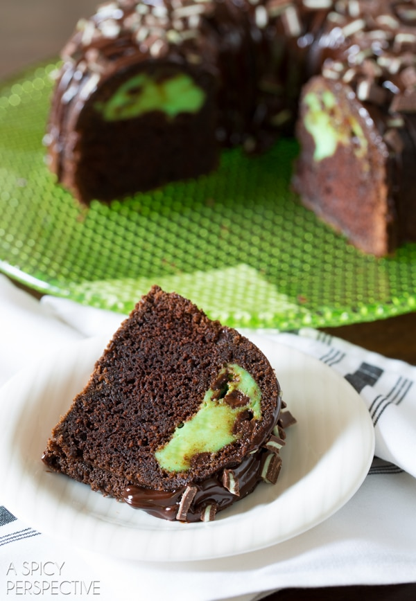Amazing Chocolate Mint Bundt Cake Recipe + Brilliant Bundt Cakes Ebook Release Party!
