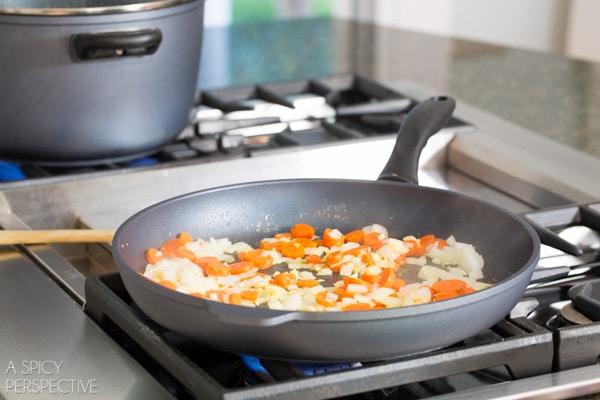 Gnocchi Recipe Step 1 - Chicken Gnocchi Skillet! #fall #skillet #chicken