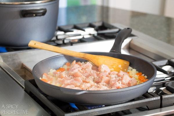 Gnocchi Recipe Step 2 - Chicken Gnocchi Skillet! #fall #skillet #chicken
