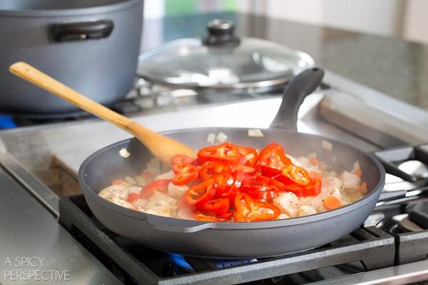 Gnocchi Recipe Step 3 - Chicken Gnocchi Skillet! #fall #skillet #chicken