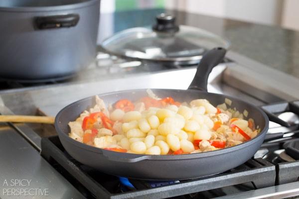 Gnocchi Recipe Step 4 - Chicken Gnocchi Skillet! #fall #skillet #chicken