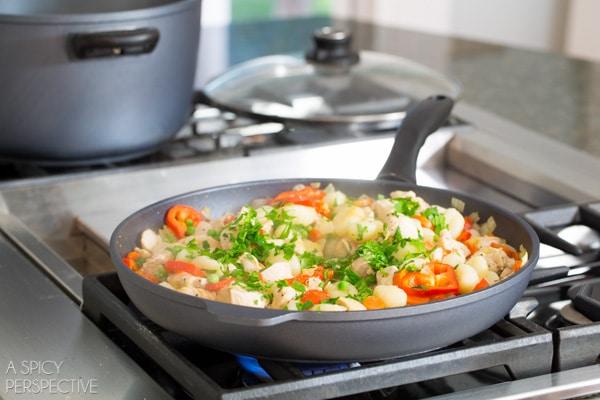 Gnocchi Recipe Step 5 - Chicken Gnocchi Skillet! #fall #skillet #chicken