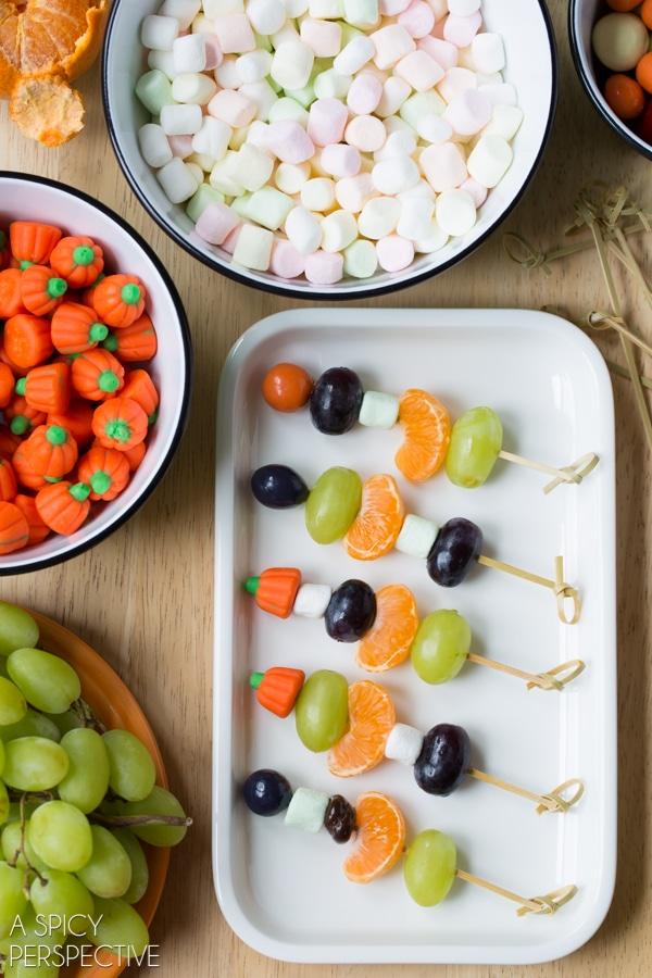 Halloween Fruit Skewers #halloween #kids