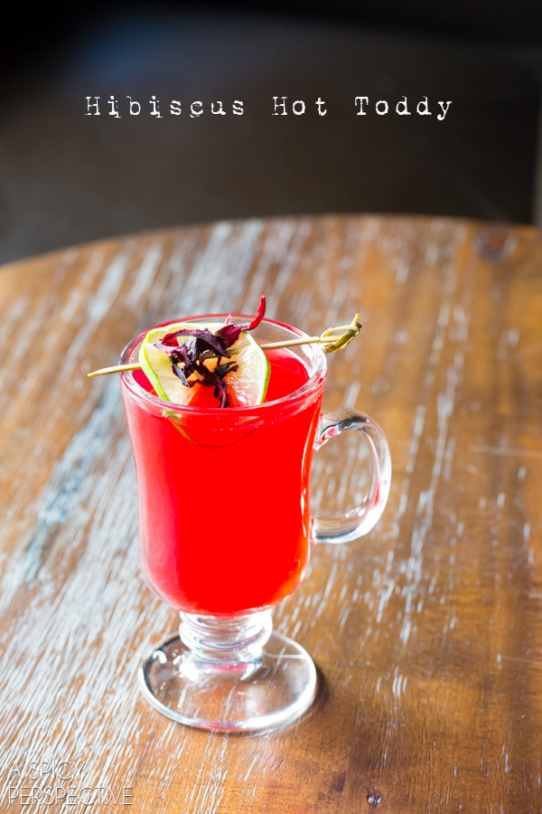 Hibiscus Hot Toddy #cocktails