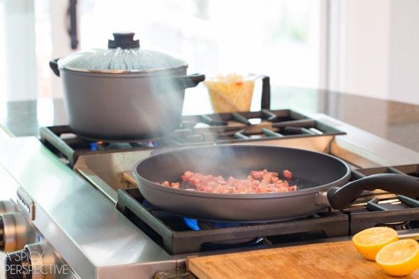 Making Italian Shrimp and Grits #comfortfood
