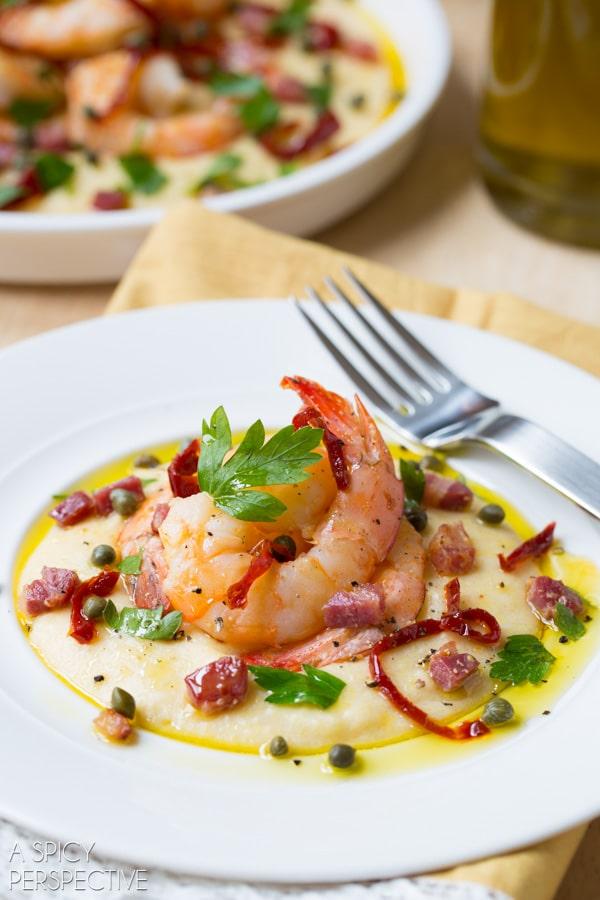 Dinner Tonight - Italian Shrimp and Grits #comfortfood