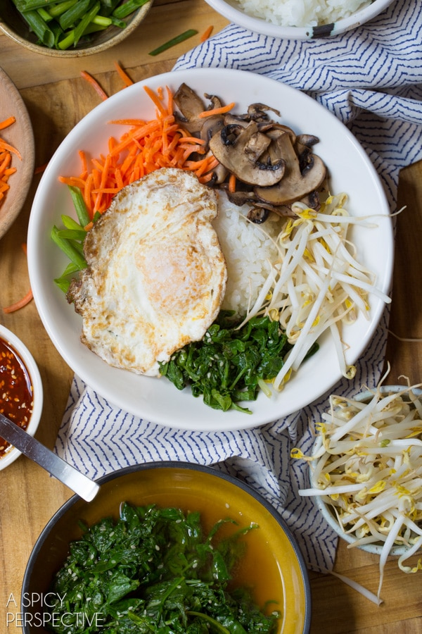 Healthy Korean Bibimbap