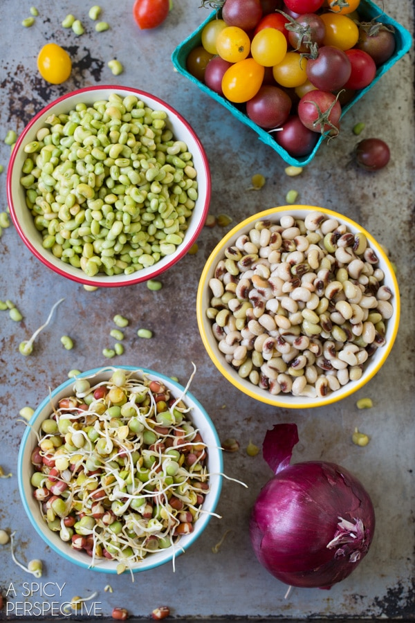 Healthy Market Bean Salad #healthy #salad #vegan #glutenfree