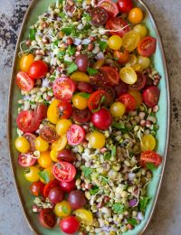 Gorgeous Market Bean Salad #healthy #salad #vegan #glutenfree