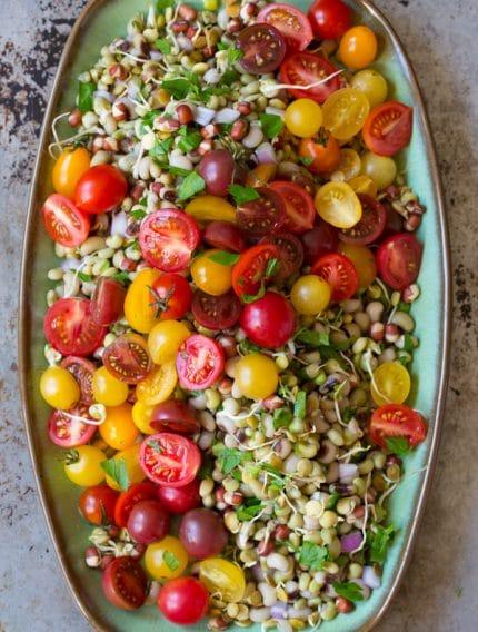 Gorgeous Market Bean Salad #healthy #salad #vegan #glutenfree