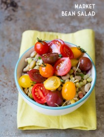 Market Bean Salad #healthy #salad #vegan #glutenfree