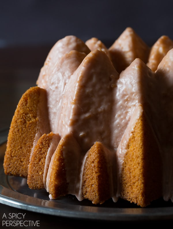 Orange Olive Oil Cake with Campari Glaze