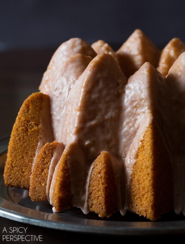 Orange Olive Oil Cake with Campari Glaze