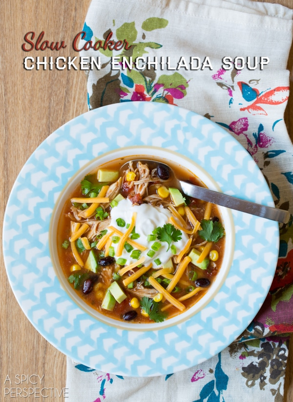 cheesy chicken enchilada soup recipe crock pot