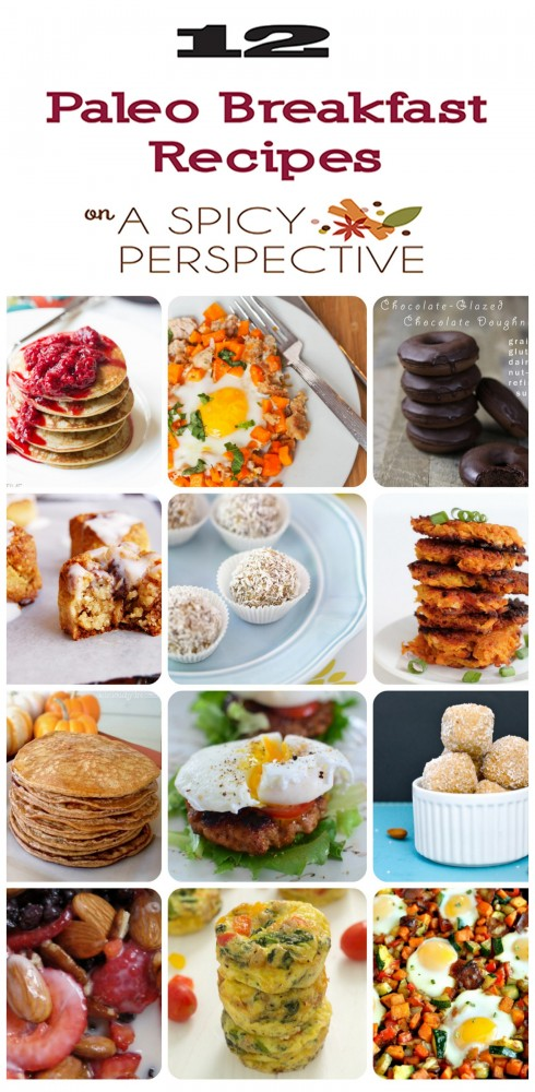 Paleo Breakfast Recipe Round Up #paleo #breakfast
