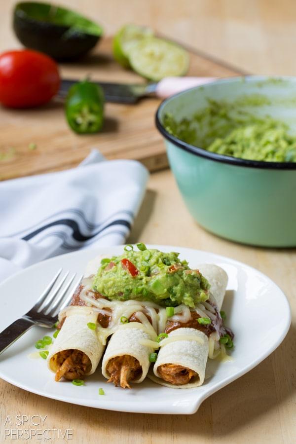 Guacamole and Mole Enchiladas! #mexican