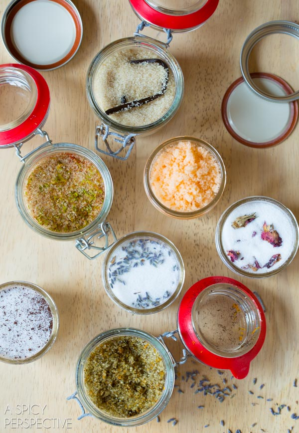How to Make Flavored Sugars - Best Flavored Sugar Recipes #ediblegifts #homemadegifts