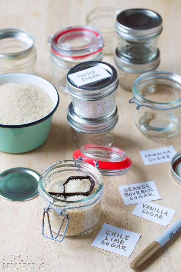Flavored Sugar Recipes #ediblegifts #homemadegifts