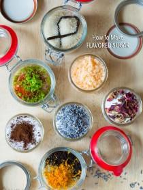 How to Make Flavored Sugars - Flavored Sugar Recipes #ediblegifts #homemadegifts