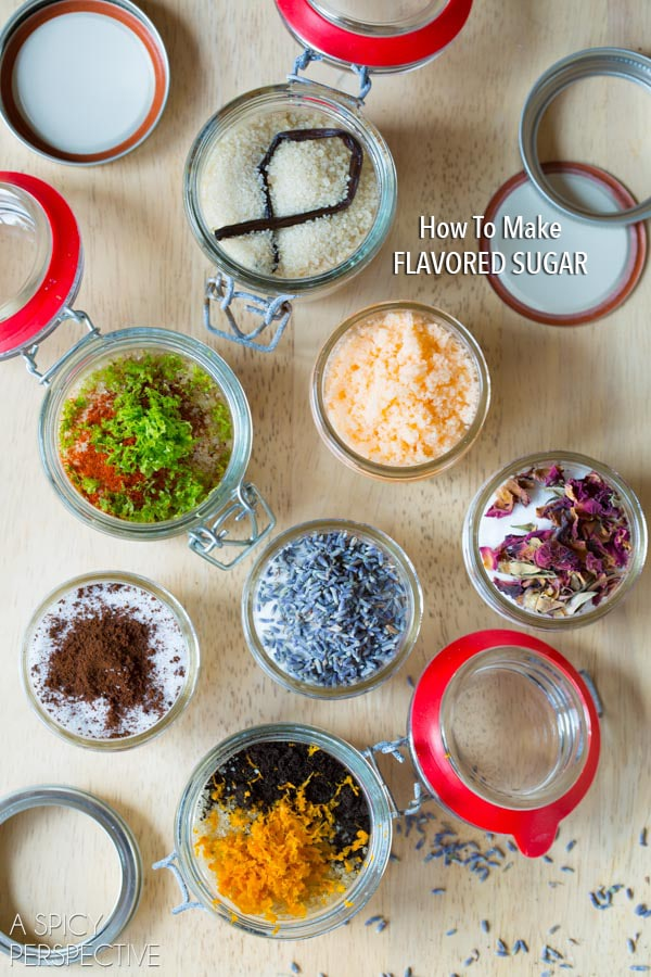 How to Make Flavored Sugars - Flavored Sugar Recipes #ediblegifts #homemadegifts
