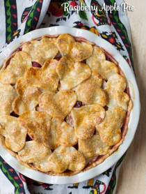Raspberry Apple Pie #fall #applepie #holiday