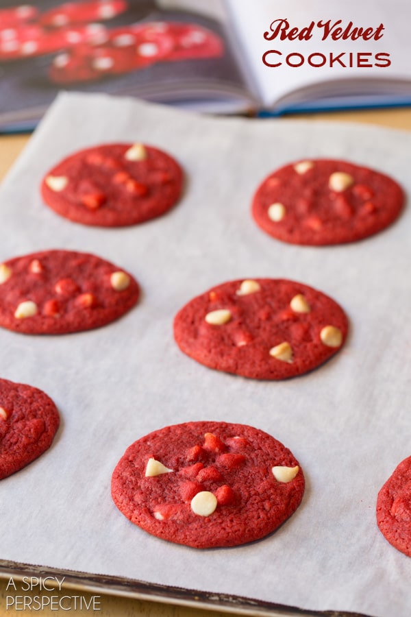 Red Velvet Cookies With White Chocolate Chips red velvet cookies - a ...